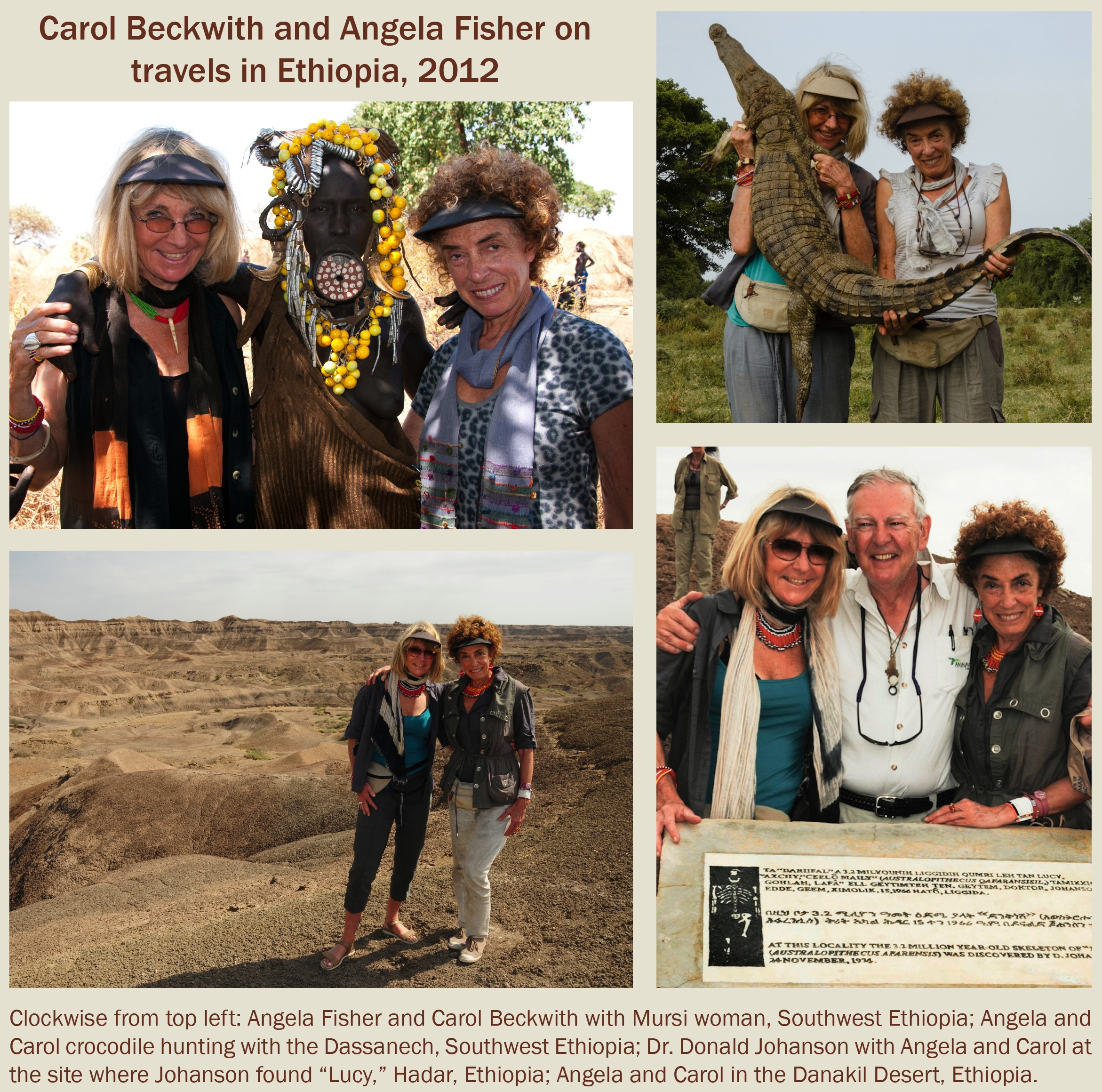 Carol Beckwith and Angela Fisher travels in Ethiopia 2012