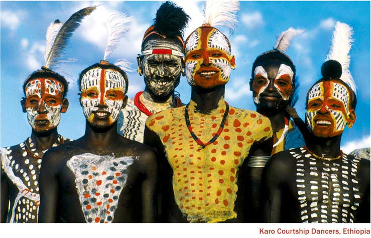 Karo Courtship Dancers, Ethiopia