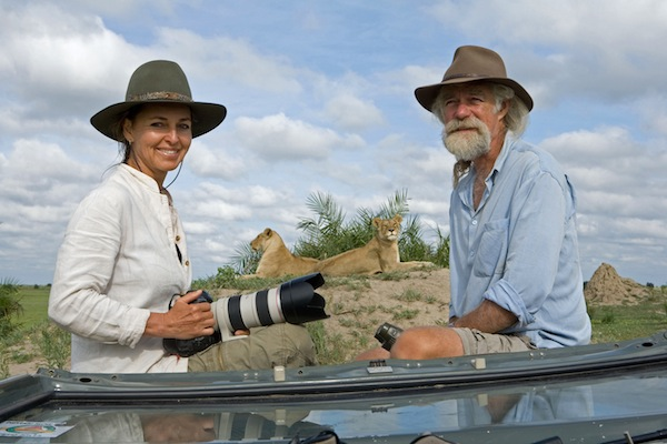 Dereck and Beverly Joubert film The Last Lions in Botswana