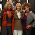 "Carol Beckwith Caroline Graham and Angela Fisher at Minotti Los Angeles exhibition ""African Passion: Painted Bodies & Beyond"" Nov 2012"