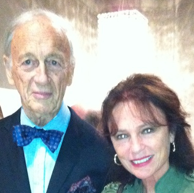 "Tim Vreeland and Jackie Bisset at Minotti opening of ""African Passion: Painted Bodies & Beyond"" Nov 20th"